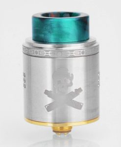 authentic-vandy-vape-bonza-rda-rebuildable-dripping-atomizer-w-bf-pin-silver-stainless-steel-24mm-diameter